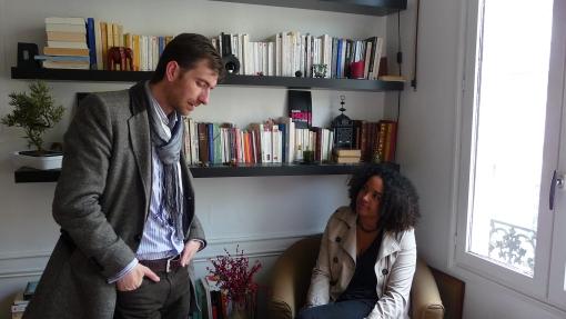 Rebecca ARMSTRONG & Stéphane E. RAYNAUD de FITTE en conférence de Rédaction au salon de © STRADEFI MEDIAS SMWB